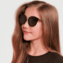 Load image into Gallery viewer, ava wearing mihi kids sunglasses - the madison design