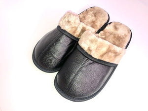 Open image in slideshow, The Revolution Lifestyle Men's Faux Leather Mule Slippers