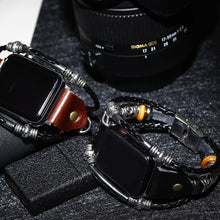 Load image into Gallery viewer, Brown Leather Loop Unique Strap