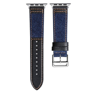 Cowboy Fabric And Genuine Leather Strap