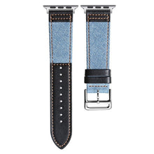 Load image into Gallery viewer, Cowboy Fabric And Genuine Leather Strap