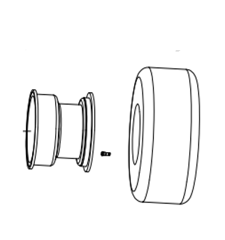 8 inch wheel assembly - 8(6p)