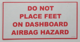 Airbag Hazard Sticker / Decal