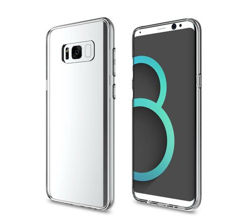 Case Cover For Samsung Galaxy S8 Scratch Resistant Back Panel - Clear