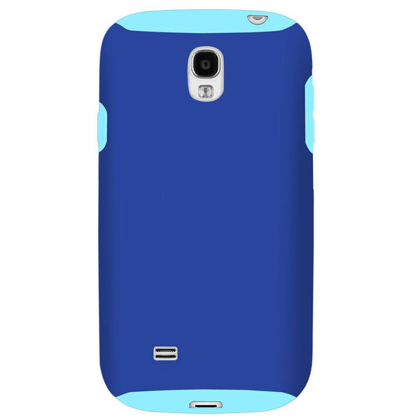 Hybrid Case For Samsung Galaxy S4 - Blue/Light Blue