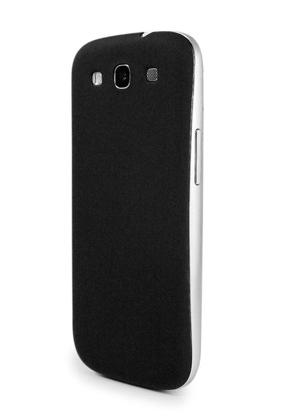 Black Rubberized Texture Back Cover for Samsung Galaxy S3