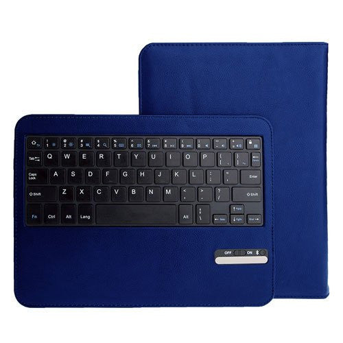 Leather Keyboard Case For Galaxy Tab 10.1 - Blue
