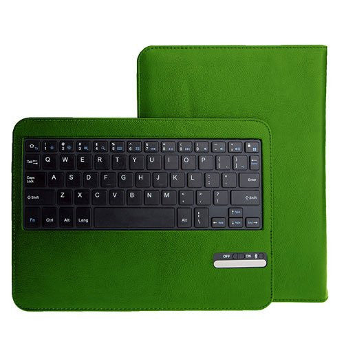 Leather Keyboard Case For Galaxy Tab 3 10.1 - Green