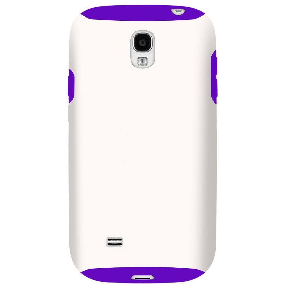Hybrid Case For Samsung Galaxy S4 - White/Purple