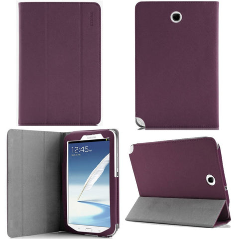 KHOMO Purple 3 Fold Leather Cover Case Folio with stand for Samsung Galaxy Note 8.0