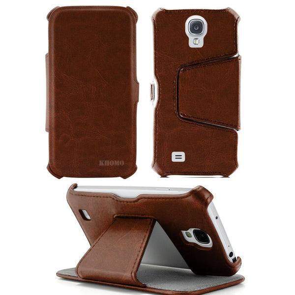 Hot Press Case For Samsung Galaxy S4 - Brown