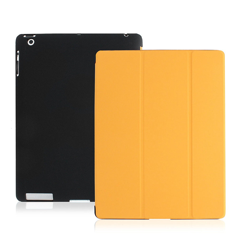 Dual Protective Case Cover For iPad 2nd 3rd 4th Gen. Orange & Black