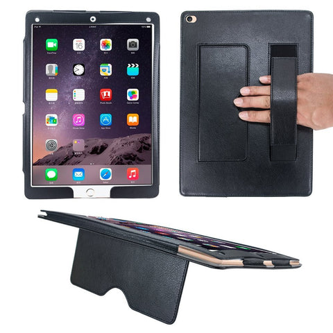 iPad Pro 12.9 Case - Black Zippered PU Folio