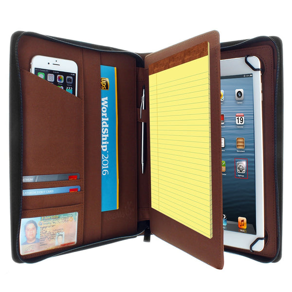 Apple iPad Air PadFolio Case Brown Executive Notepad Holder 8.5