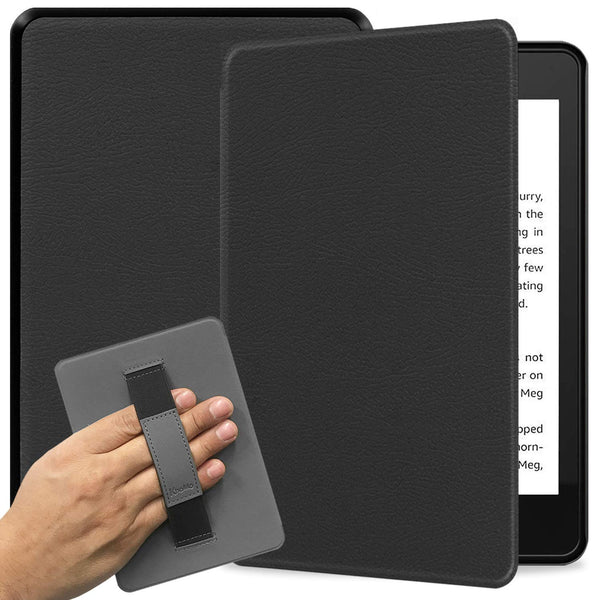 All New Kindle 2019 10th Generation Case with Hand Strap Holder - Not Compatible with Kindle Paperwhite (Black)