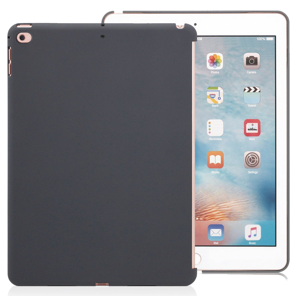 Companion Case Cover Super Slim Rubberized Back For Apple iPad 9.7 (2017 & 2018) - Charcoal Grey
