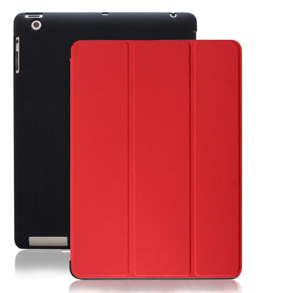 Dual Protective Case For iPad 2nd 3rd & 4th Generation - Black/Red
