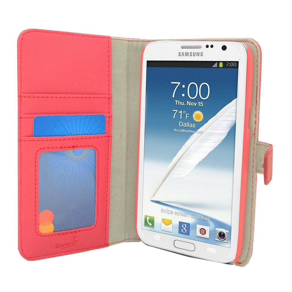 Executive Leather Wallet Case For Samsung Galaxy Note 3 - Pink