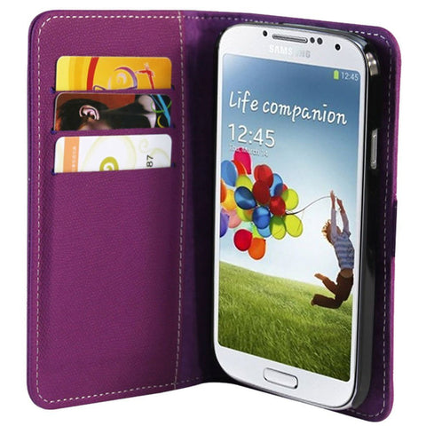 Executive Wallet case for Samsung Galaxy S4 - Purple
