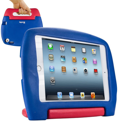iPad Mini 4 Case for Kids, SAFEKIDS Series Children Proof Durable Shockproof Kids Friendly Case, Blue and Red