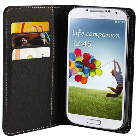 Wallet Case For Samsung Galaxy S4 - Black