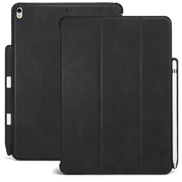 Dual Case Cover With Pen Holder For Apple iPad Pro 10.5 Inch - Leather Black