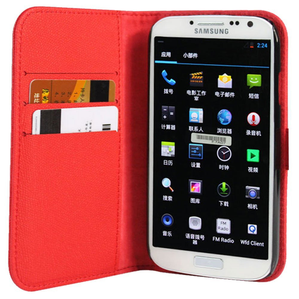 Wallet Case for Samsung Galaxy S4 - Red