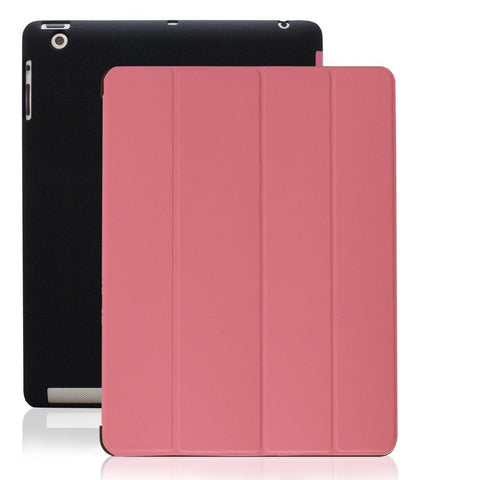 Dual Protective Case For iPad 2nd 3rd & 4th Generation - Black/Pink