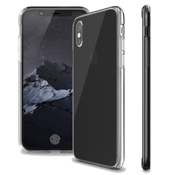 KHOMO - iPhone X & Xs [Hybrid] Bumper Case with Clear - Scratch Resistant Back