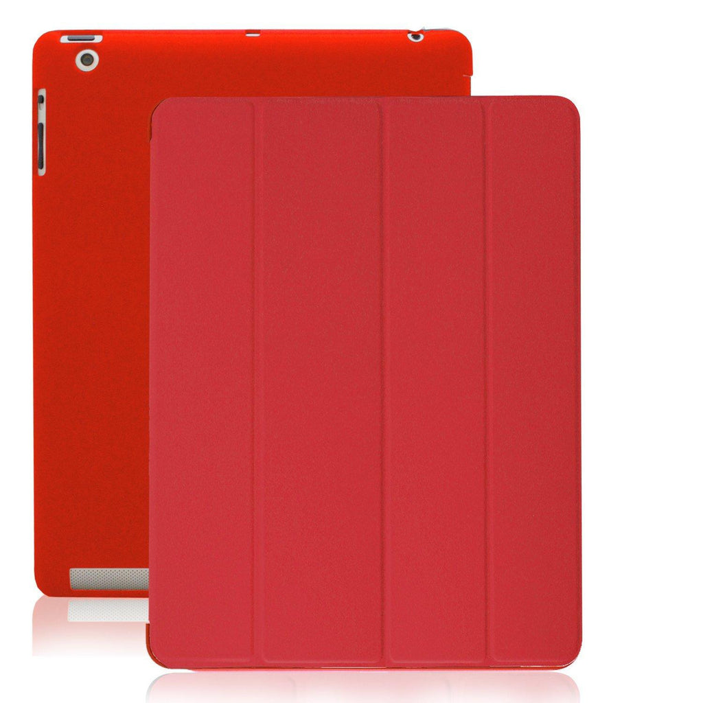 Dual Protective Case For iPad 2nd 3rd & 4th Generation - Red
