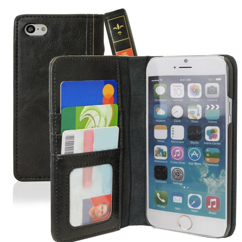 Vintage Bookstyle Case For iPhone 6 - Black