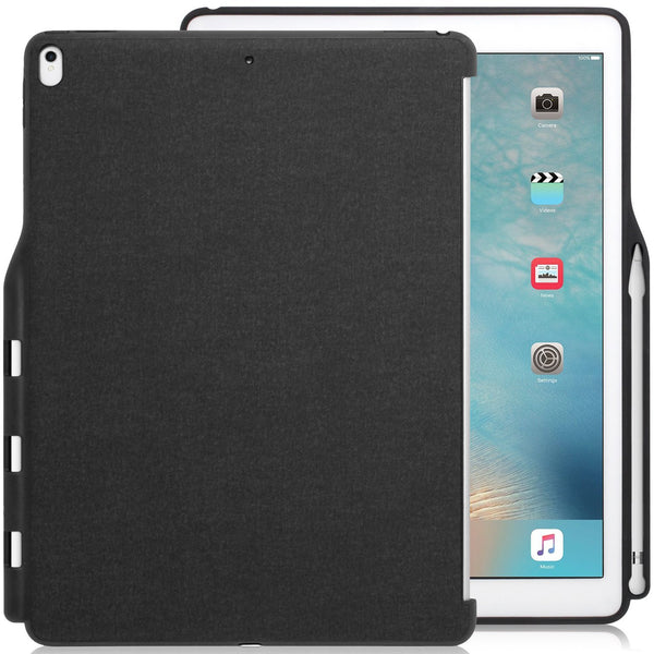 Case Cover Companion With Pen Holder For Apple iPad Pro 2nd Generation 12.9 - Charcoal Grey