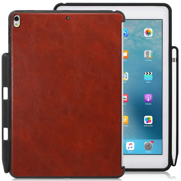 Companion Cover Case For Apple iPad Air 3 ( 2019 ) With Pen Holder - Leather Brown