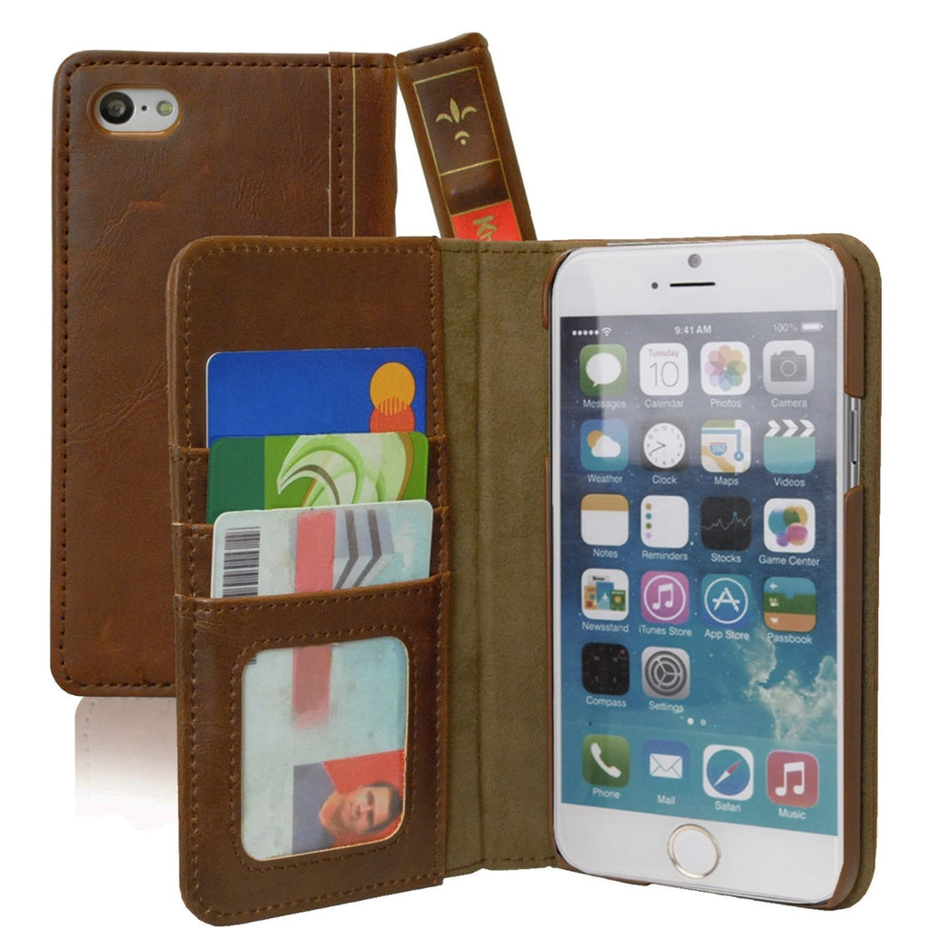 Vintage Bookstyle Case For iPhone 6 - Brown