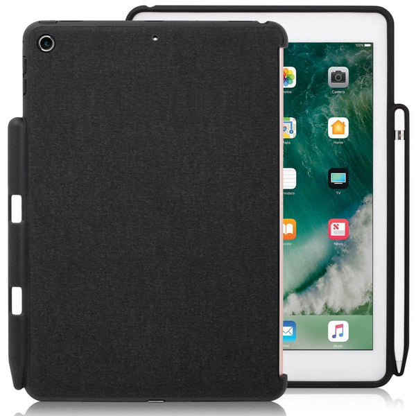 Companion Cover Case For iPad 9.7 (2017 & 2018) With Pencil Holder - Charcoal