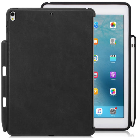 Companion Cover Case For Apple iPad Pro 10.5 Inch With Pen Holder Leather Black