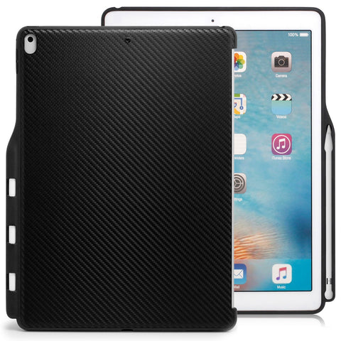 Case Cover Companion With Pen Holder For Apple iPad Pro 2 12.9 - Carbon Fiber