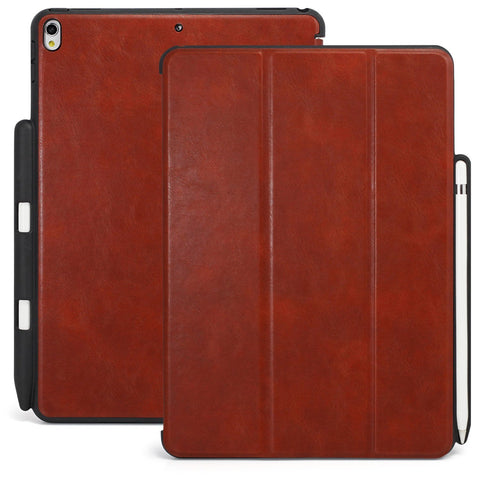 Dual Case Cover With Pen Holder For Apple iPad Pro 10.5 Inch - Leather Brown