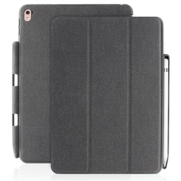 Khomo Dual Twill Grey Cover with Pen Holder For Apple iPad Pro 9.7