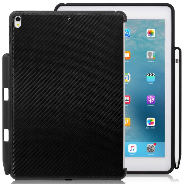 Companion Cover Case For Apple iPad Air 3 ( 2019 ) With Pen Holder - Carbon Fiber