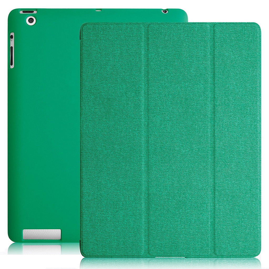 Dual Protective Case Cover For iPad 2nd 3rd 4th Generation Twill Green