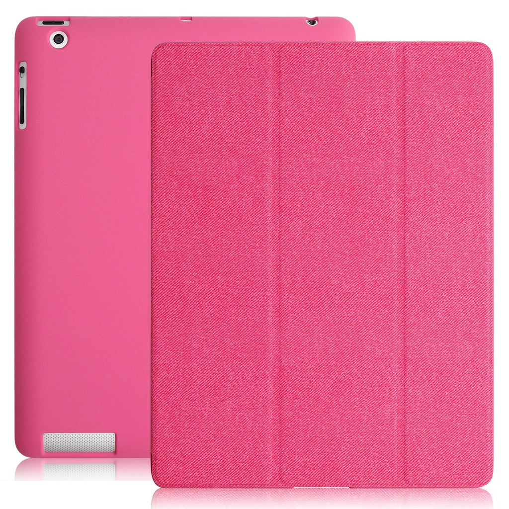 Dual Protective Case Cover For iPad 2nd 3rd & 4th Generation  Twill Pink