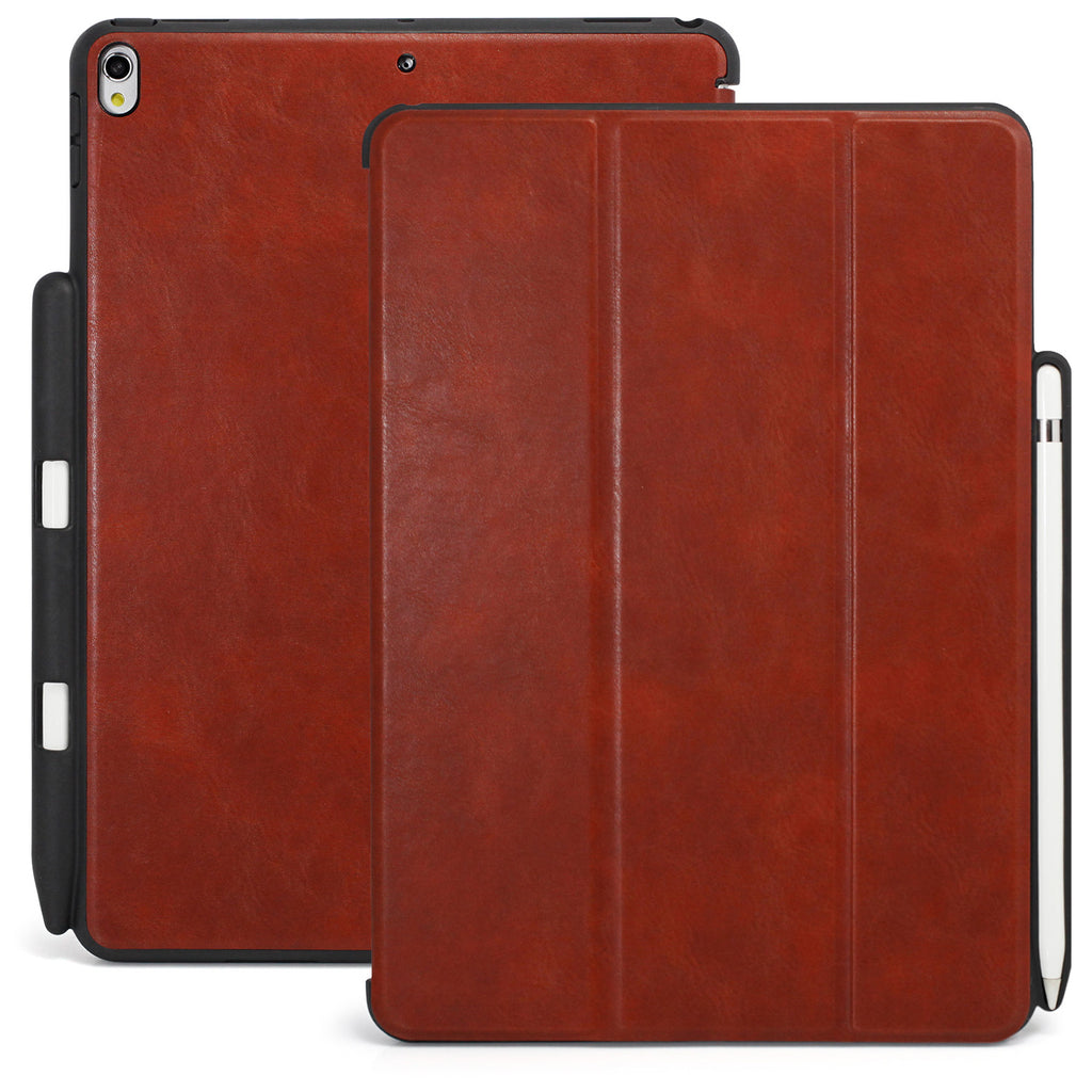 quality design 39d9d cfc39 Dual Case Cover With Pen Holder For Apple iPad Pro 12.9 - Leather ...