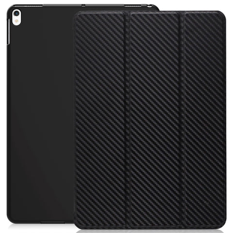 Dual Case Cover For Apple iPad Pro 10.5 Inch Super Slim With Smart Feature - Carbon Fiber