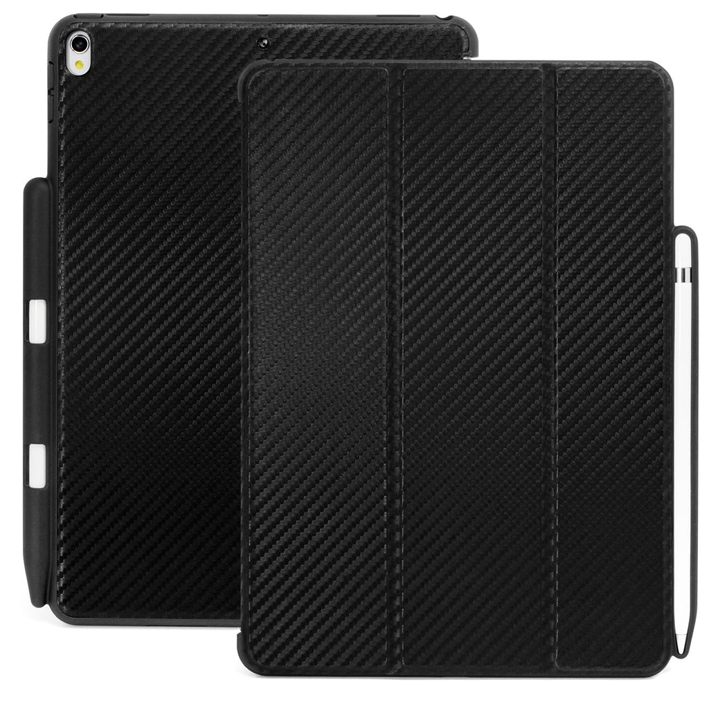 Dual Case Cover With Pen Holder For Apple iPad Pro 12.9 - Carbon Fiber