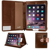 iPad Pro Case 12.9 - Brown Zippered PU Folio