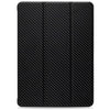 Dual Case Cover For Apple iPad Pro 12.9 Inch 3rd Generation  Super Slim With Rubberized Back & Smart Feature - Carbon Fiber