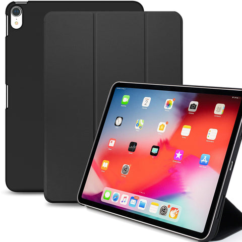 Dual Case Cover For Apple iPad Pro 12.9 Inch 3rd Generation  Super Slim With Rubberized Back & Smart Feature - Black