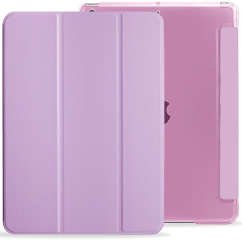 iPad 10.2 2019 ( 7th Generation ) Case See Through Transparent Dual Cover - Purple