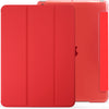 iPad 10.2 2019 ( 7th Generation ) Case See Through Transparent Dual Cover - Red